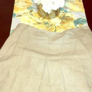 Elie Tahari linen skirt, size 6